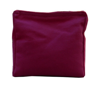 Wedge Rice Bag with Fuschia Cotton Fabric