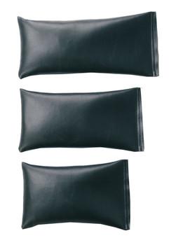 Rectangular Rice Bag with Dark Gray Vinyl