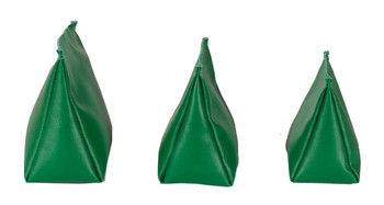 Wedge Rice Bag with Green Vinyl