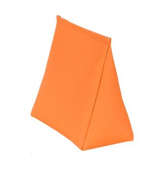 Wedge Rice Bag with Neon Orange Vinyl