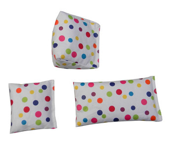 Rectangular Rice Bag with Polka Dots Print