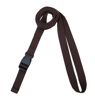 1 Inches Wide Dark Brown Traction Belt with Fast Release Buckle ( 8 Ft - 12 Ft Long)