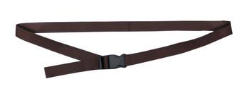 Dark Brown Waist Belt with 1 Inches Wide Webbing