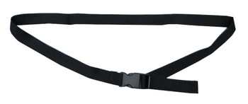 Black Waist Belt with 1 Inches Wide Webbing