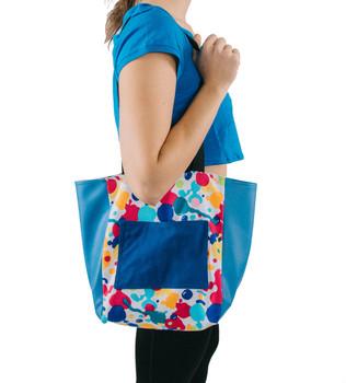 Fabric Tote Bag (Shoulder View)