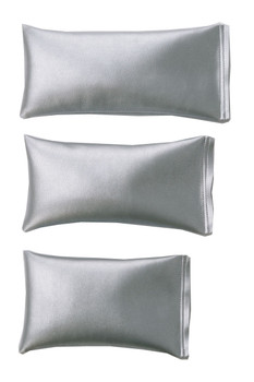 Rectangular Rice Bag with Silver Vinyl
