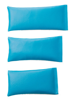 Rectangular Rice Bag with Turquoise Vinyl
