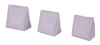 Wedge Rice Bag with Light Purple Vinyl