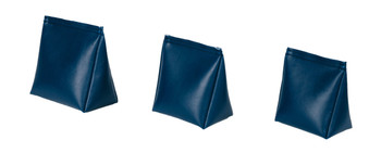 Wedge Rice Bag with Midnight Blue Vinyl