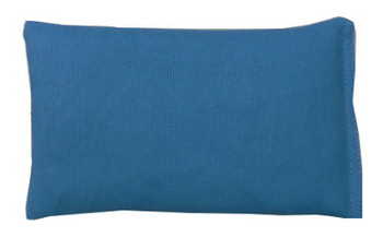 Rectangular Rice Bag with Teal Blue Fabric