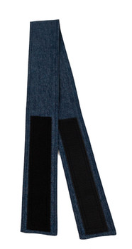 Denim Blue Fabric Belt with Hook and Loop Closure (3 inches wide)