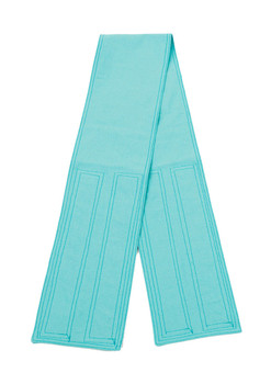 Aqua Blue Fabric Belt with Hook and Loop Closure (5 inches wide)