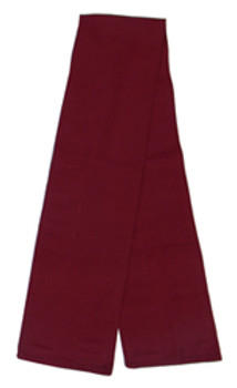 Maroon Fabric Belt with Hook and Loop Closure (4 inches wide)