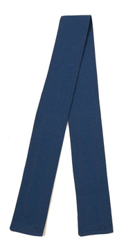 Denim Blue Organic Cotton Belt with Hook and Loop Closure