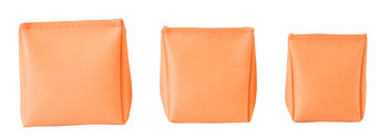 Wedge Rice Bag with Peach Vinyl