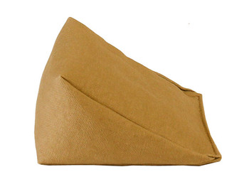 Wedge Rice Bag with Khaki Organic Cotton Fabric
