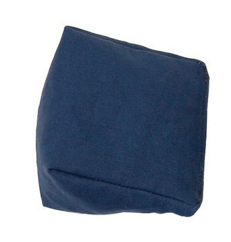 Wedge Rice Bag with Navy Blue Organic Cotton Fabric