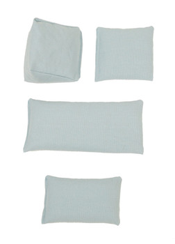 Rectangular Rice Bag with Light Blue Cotton Fabric