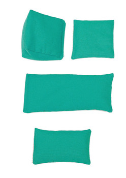 Rectangular Rice Bag with Teal Cotton Fabric