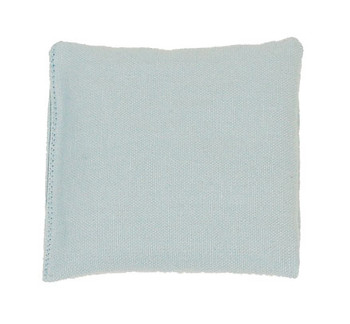 Light Blue Square Rice Bag in Cotton Fabric