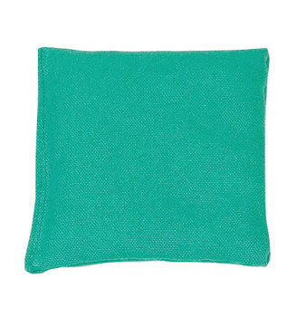 Teal Square Rice Bag in Cotton Fabric