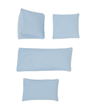 Ice Blue Square Rice Bag in Organic Cotton Fabric