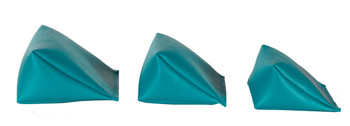 Wedge Rice Bag with Teal Vinyl