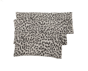 Rectangular Rice Bag with Leopard Print Vinyl