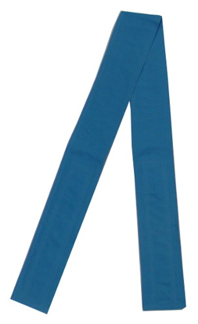 Teal Blue Cotton Fabric Belt with Velcro Closure - Narrow