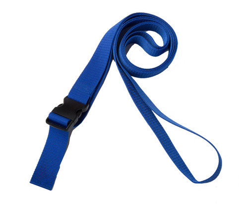 1.5 Inches Wide Blue Traction Belt with Fast Release Buckle