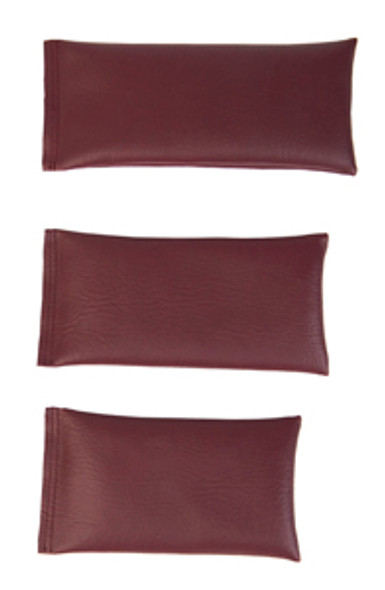 Rectangular Rice Bag with Maroon Vinyl