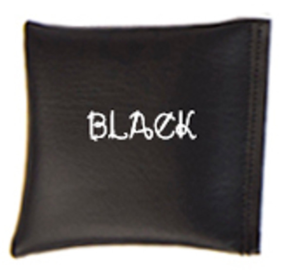Square Rice Bag in Vinyl - Black