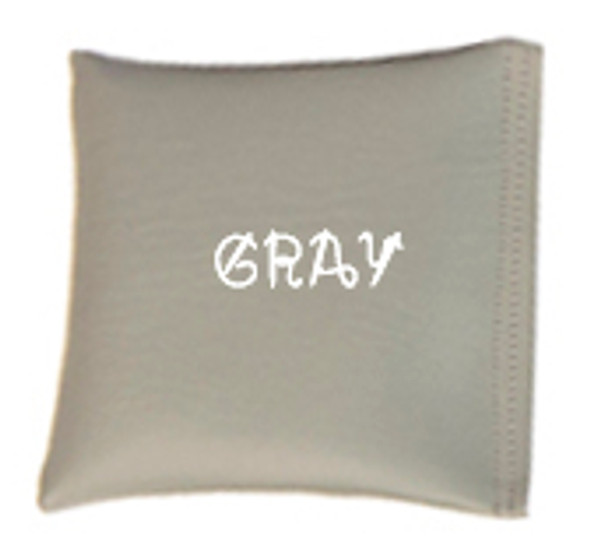 Square Rice Bag in Vinyl - Gray