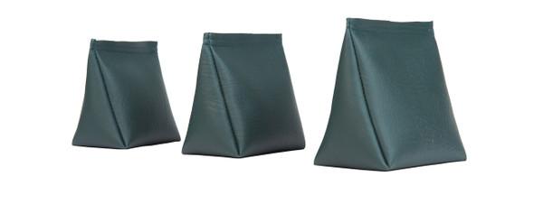 Dark Green Vinyl Wedge Rice Bag