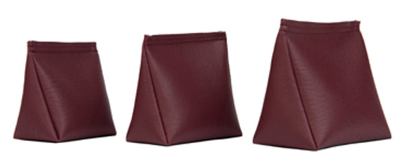 Wedge Rice Bag with Maroon Vinyl and Rice