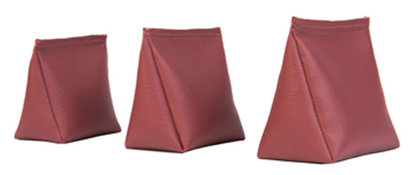 Wedge Rice Bag with Mauve Vinyl and Rice