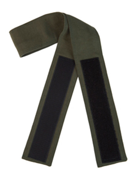 Hunter Green Velcro Fabric Belt (3 inches wide and 40 to 48 inches long; with 2 inches wide and 11 inches long Velcro)