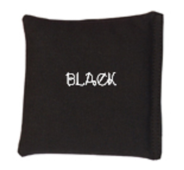Square Rice Bag in Cotton Fabric - Black