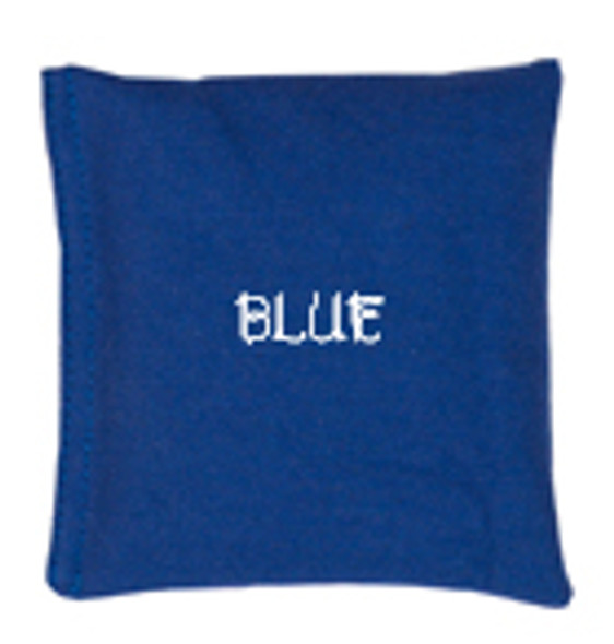 Square Rice Bag in Cotton Fabric - Blue