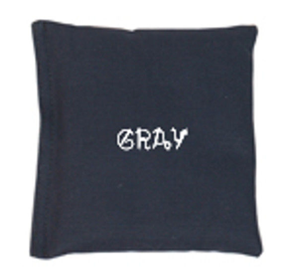 Square Rice Bag in Cotton Fabric - Gray