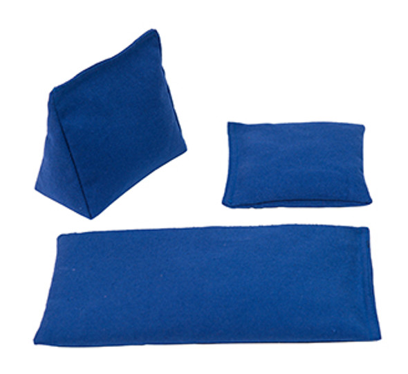 Wedge Rice Bag with Blue Cotton and Rice
