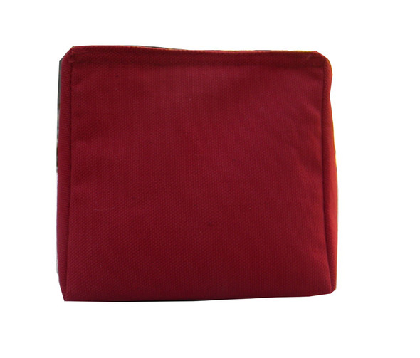 Wedge Rice Bag with Maroon Cotton Fabric and Rice