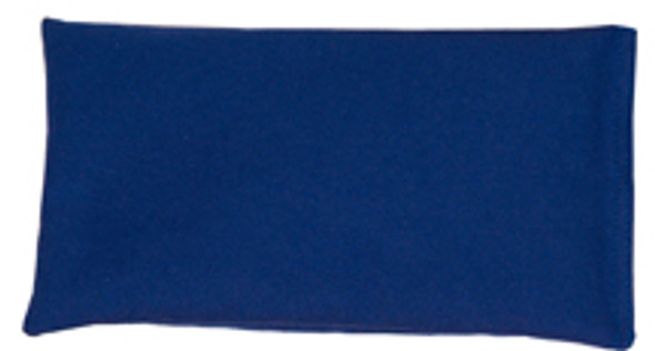 Rectangular Rice Bag with Blue Cotton Fabric