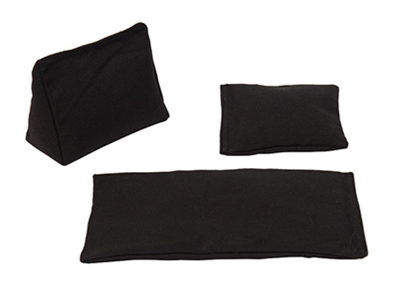 Rectangular Rice Bag with Black Cotton Fabric
