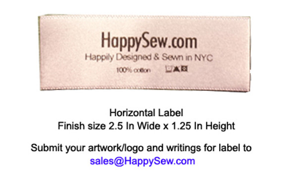 Horizontal Label - 1,000 labels w/ 2.5 In Wide by 1.25 In Height