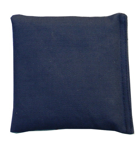 Navy Blue Square Rice Bag in Cotton Fabric