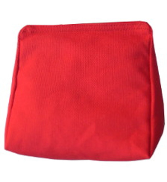 Wedge Rice Bag with Red Cotton Fabric and Rice