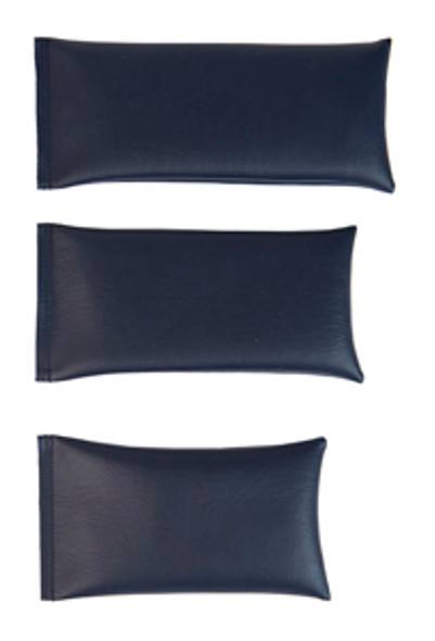 Rectangular Rice Bag with Navy Blue Vinyl - Large