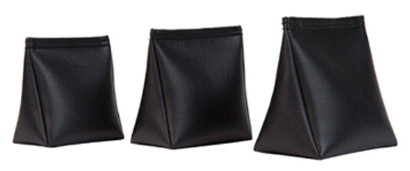 Wedge Rice Bag with BlackVinyl and Rice