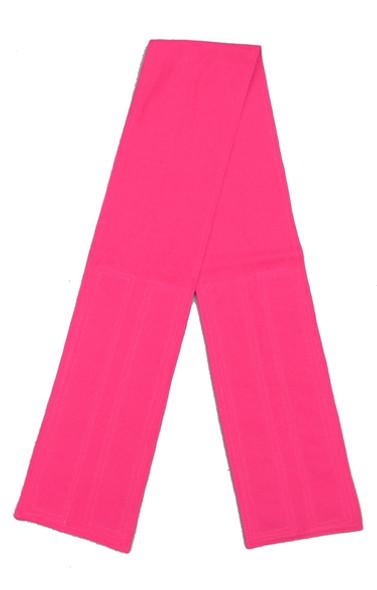 Fuchsia Cotton Fabric Belt with Velcro Closure - Wide